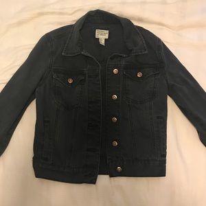 Forever 21 Black Denim Jacket Sz S